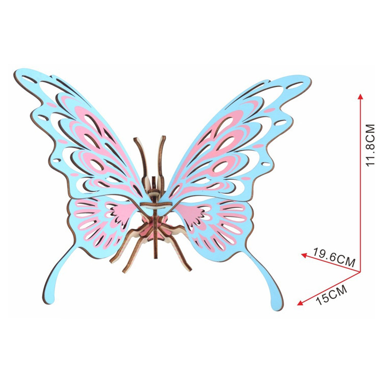 Wooden butterfly model puzzle