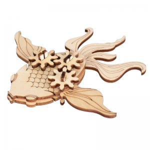 Wooden DIY Animal Craft of Goldfish