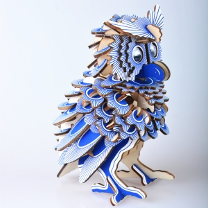wooden owl model pazzle