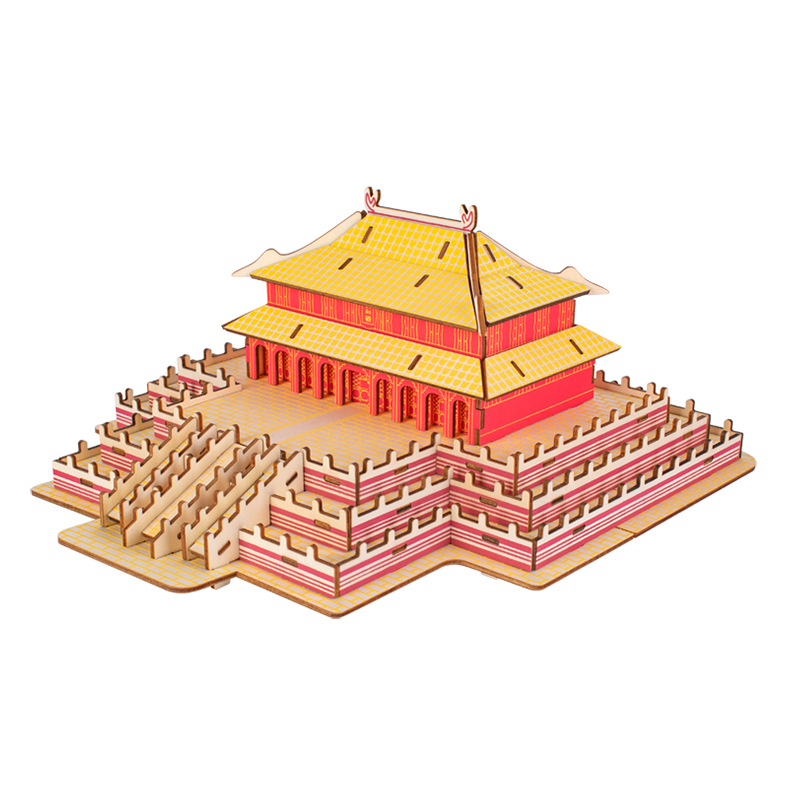 3D wooden Jigsaw puzzle for palace