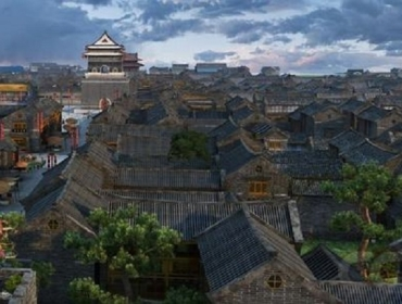 3d wooden jigsaw puzzle for ancient Chinese architecture