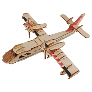 3D Aircraft Model Wooden Puzzle