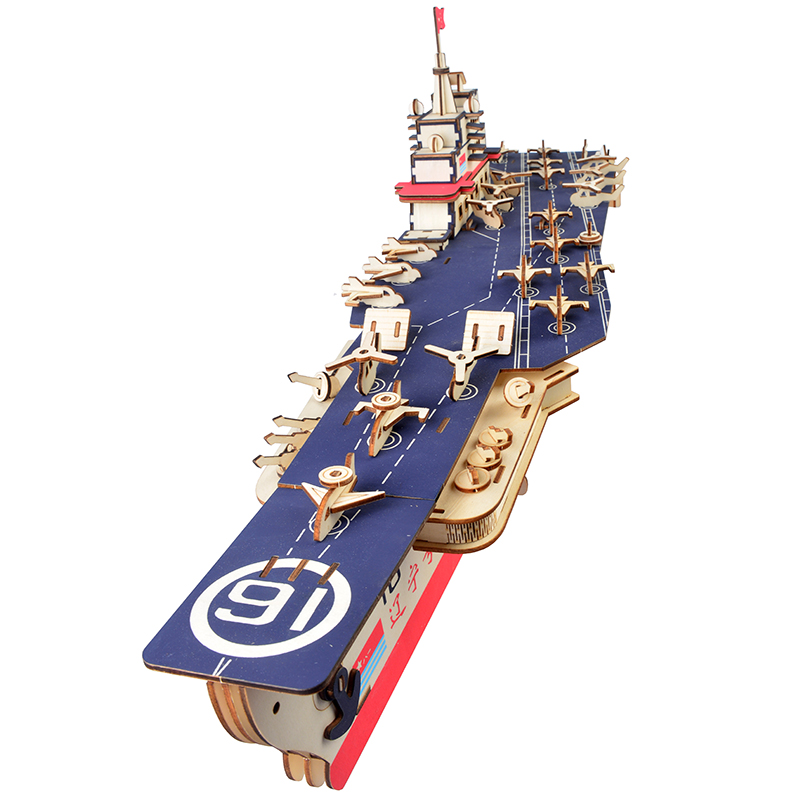 Sailing Ship 3D Wooden Puzzle Model for DIY Aircraft Carrier