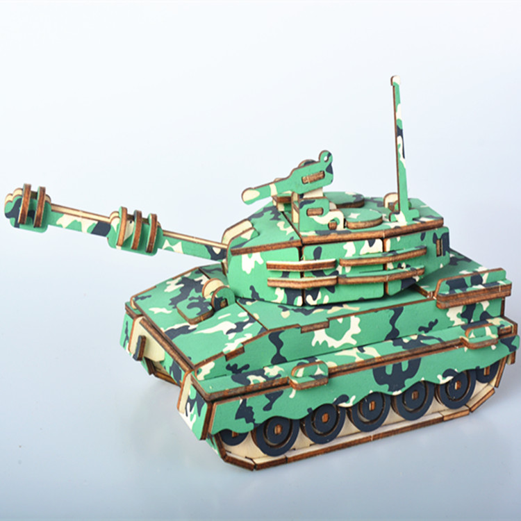 Army No.1 Tank assembling Toys Stereo puzzle