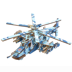 Camouflage aircraft educational toy DIY wooden puzzles