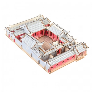 Chinese Ancient Architecture Wooden Material 3D Jigsaw puzzle