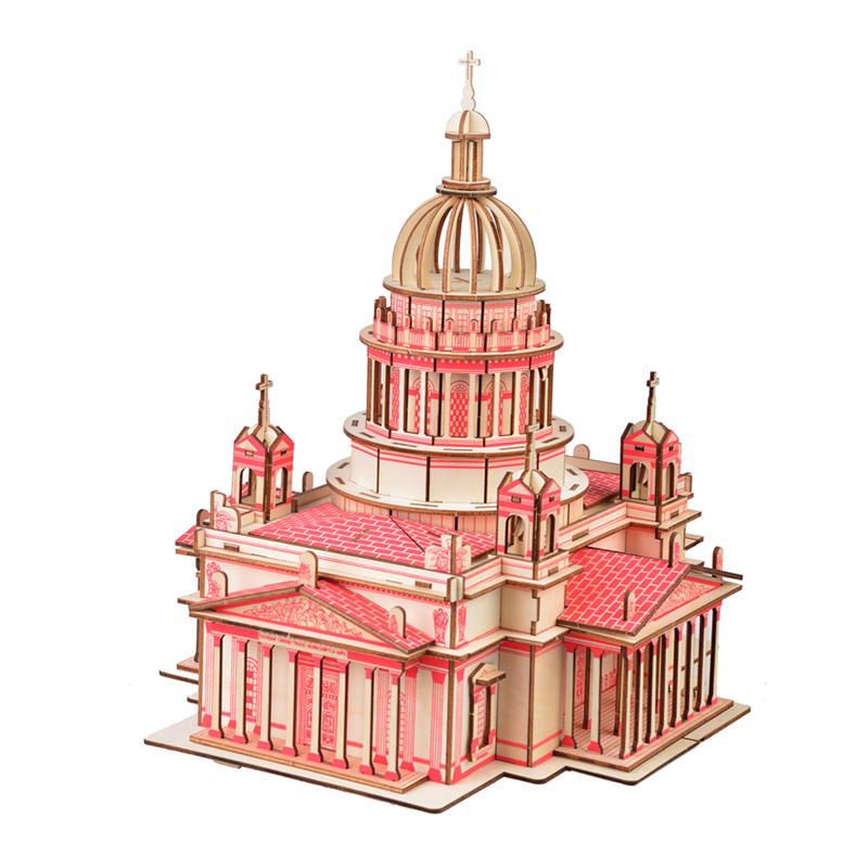 Issa Kiev's Cathedral Wooden Material 3D Jigsaw puzzle