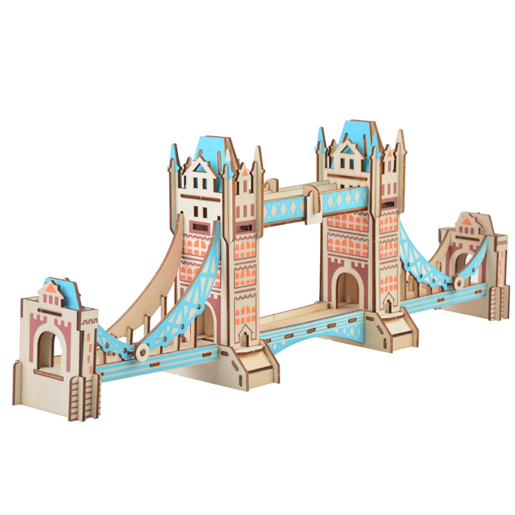 London Tower Bridge Plywood Material 3D Jigsaw puzzle