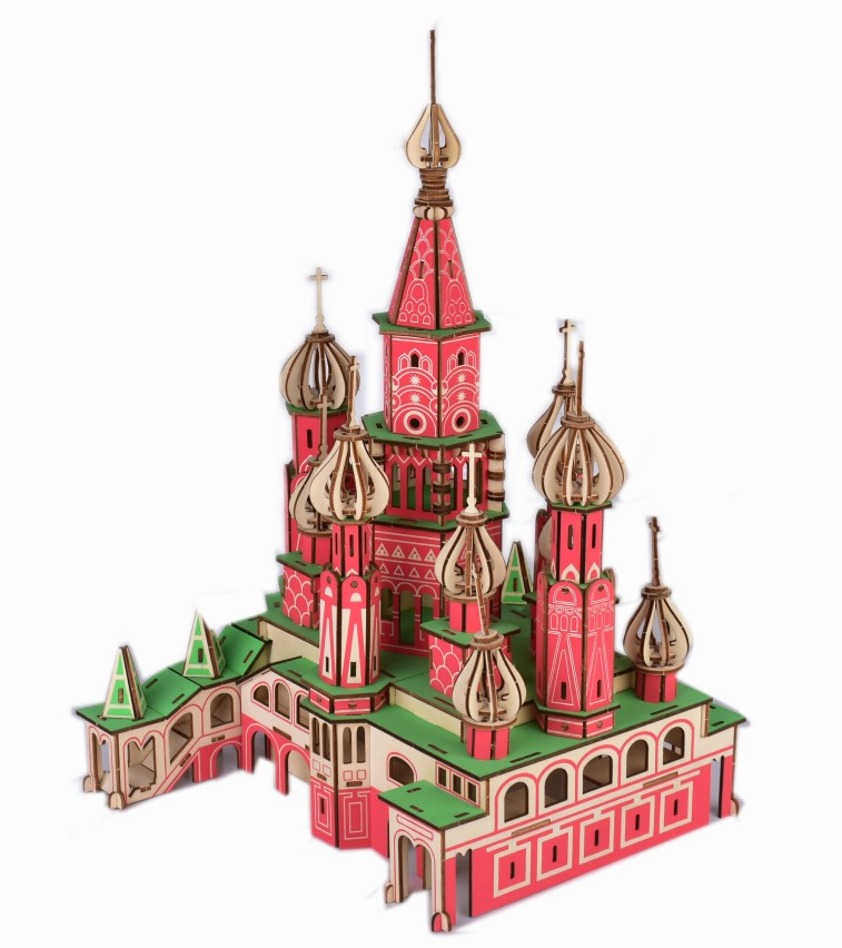 Saint Basil's Cathedral wooden sheets 3D Jigsaw puzzle