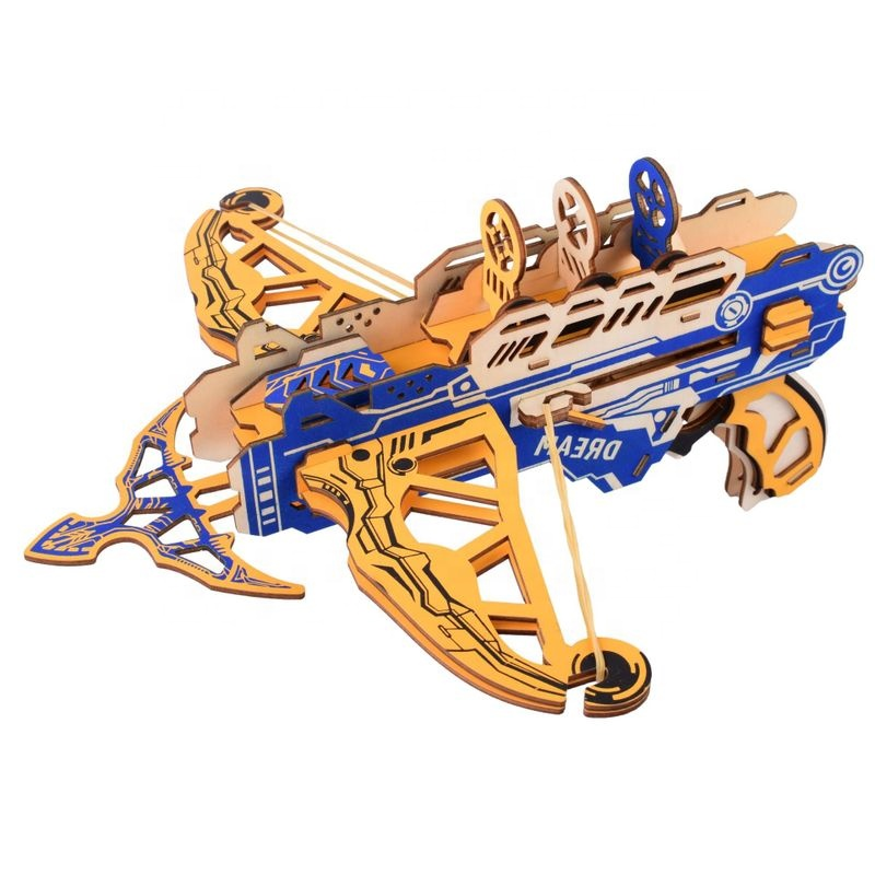 Wooden crossbow gun jigsaw puzzles
