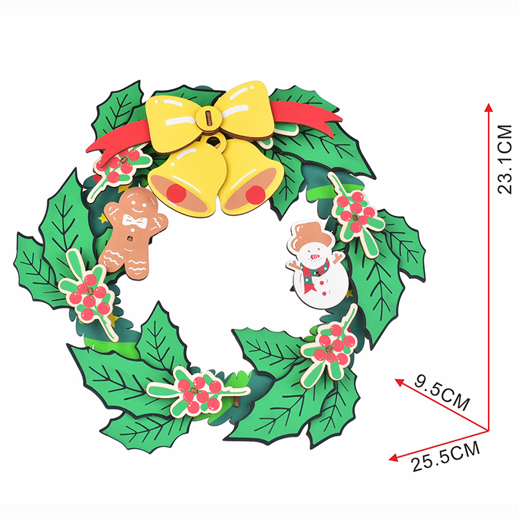 3D Christmas Wooden Puzzles Xmas Wreath