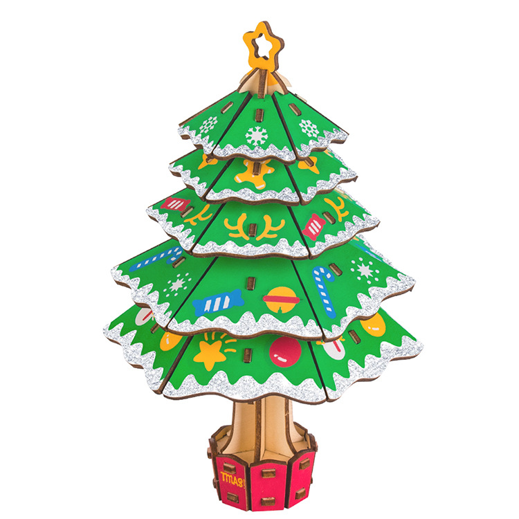 3D wooden christmas tree puzzle